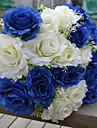 1 ramură (2 culori) trandafiri din plastic floarea de flori artificiale multicolor opțional