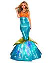 Prințesă Mermaid Coada DinBasme Costume Cosplay Costume petrecere Pentru femei Halloween Carnaval Festival / Sărbătoare Costume de