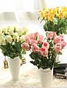 Konstgjorda blommor 5 Gren Modern Stil Roser Bordsblomma