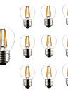 10pcs 4W 360lm E26 / E27 Bec Filet LED G45 4 LED-uri de margele COB Intensitate Luminoasă Reglabilă Decorativ Alb Cald 220-240V