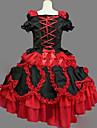 O piesă/Rochii Lolita Stil Gotic lolita Cosplay Rochii Lolita Vintage Beretă Manșon scurt Scurt / Mini Rochie Pentru