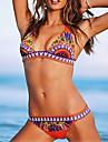 Bikini (Polyester/Spandex) Feminin - Push-up/Fără Întăritură/Sutiene cu Bureți - Cu Susținere