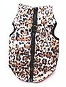 고양이 강아지 코트 티셔츠 맨투맨 스웻티셔츠 조끼 강아지 의류 레오파드 표범 면 코스츔 애완 동물 여성용 파티 캐쥬얼/데일리 따뜻함 유지 스포츠
