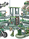 GUDI Legolar Askeri bloklar Blok Minifigürleri 318 pcs Asker / Savaşçı Askeri Tank Dövüşçü Kamuflaj Kendin-Yap Unisex Genç Erkek Genç Kız Oyuncaklar Hediye