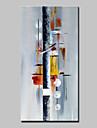 Hang-ζωγραφισμένα ελαιογραφία Ζωγραφισμένα στο χέρι - Αφηρημένο Αφηρημένο Μοντέρνα Χωρίς Εσωτερικό Πλαίσιο