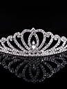Crystal Rhinestone Alloy Tiaras Hair Combs Headwear with Floral 1pc Wedding Special Occasion Birthday Party / Evening Headpiece