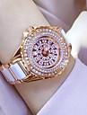 Pentru femei Quartz Ceas de Mână / Ceas Brățară Chineză Rezistent la Apă / Creative / imitație de diamant Oțel inoxidabil Bandă Charm /