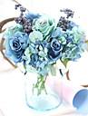 1 Gren Silke Polyester Roser Bordsblomma Konstgjorda blommor