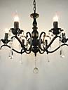 Ac110-240 living cameră candelabru simplă cristal de fier lumanari lumini camera de zi decorare lămpi de iluminat