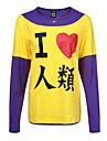 Inspirat de Nu joc nici o viață Cosplay Anime Costume Cosplay hanorace Cosplay Imprimeu Manșon Lung Tricou Pentru Bărbătesc