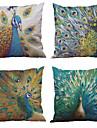 4.0 pcs Naturel/Organique Polyester Taie d\'oreiller Housse de coussin, Texture Plage Euro Soutenir Traditionnel/Classique Retro