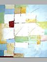 Peinture a l\'huile Hang-peint Peint a la main - Abstrait Abstrait Style moderne Toile