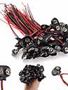 Conector de fixare pentru acumulator 9v - cleme pentru cabluri - negru (100 buc)