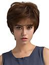 Human Hair Capless Parykar Äkta hår Rak Klassisk Hög kvalitet Maskingjord Peruk Dagligen