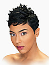 lifelike natural waves black short human hair wigs for woman