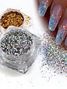 1 pcs Paillettes / Poudre de paillettes Elegant & Luxueux / Brille & Scintille / Nail Glitter Nail Art Design