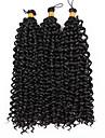 ブレイズヘア カール / ウェーブ カーリーブレイズ 100%カネカロン髪 / カネカロン 3個, 15ルーツ 髪の三つ編み ミッドレングス グラデーション・ブレーズヘア