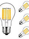 4 buc 10W 900 lm E27 Bec Filet LED A60(A19) 10 led-uri COB Decorativ Alb Cald Alb Rece AC 175-265 V