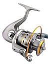 Carrete de pesca Teniendo Carretes para pesca spinning 5.2:1 Relacion de transmision+13 Rodamientos de bolas Orientacion de las manos Intercambiable Pesca de agua dulce / Pesca de Cebo / Pesca en