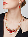 Pentru femei Seturi de bijuterii Cercei Picătură Bratara colier Cercei Coliere Pietre sintetice Diamante Artificiale Picătură Lux Elegant