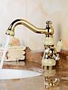 Moderne Soupape ceramique 1 trou Ti-PVD , Robinet lavabo