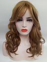 Perruque Synthetique Ondule Femme Sans bonnet Perruque Naturelle Moyen Cheveux Synthetiques