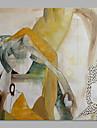 Peint a la main Abstrait Carre, Abstrait Toile Peinture a l\'huile Hang-peint Decoration d\'interieur Un Panneau