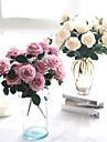 1 ramură Mătase Poliester Trandafiri Față de masă flori Flori artificiale