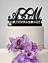 Vârfuri de Tort Amuzant & Reticent Monogramă Nuntă Temă Clasică Nuntă Sac poli