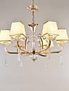 Chandelier modern / contemporan caracteristică electroplated pentru dormitor cristal din metal dormitor / birou