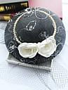 Tul Imitație de Perle Net Diadema-Nuntă Ocazie specială Zi de Naștere Party/Seara Pălărioare Pălării/Căciuli 1 Bucată