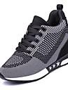 Pentru femei Pantofi Tul Primăvară / Toamnă Confortabili Adidași de Atletism Plimbare Toc Platformă Vârf rotund Dantelă Mov / Gri Închis