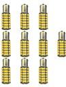 10pcs 1156 Bilar Glödlampor 4W SMD 3528 385lm LED Glödlampor Blinkers