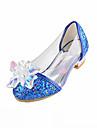 Fete Pantofi Flați Confortabili Noutăți Pantofi Fata cu Flori Imitație de Piele Toamnă Iarnă Casual Rochie Paiete Toc PlatArgintiu