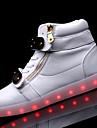 Homme Chaussures Polyurethane Printemps Automne Confort Basket LED Lacet Chaine pour Decontracte Blanc Noir