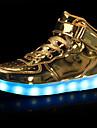 Αγορίστικα Παπούτσια Δερματίνη Φθινόπωρο / Χειμώνας Ανατομικό / Φωτιζόμενα παπούτσια Αθλητικά Παπούτσια Περπάτημα Γάντζος & Θηλιά / LED για Μαύρο / Ασημί / Κόκκινο / Καοτσούκ