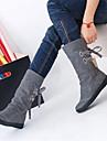 Damă Pantofi PU Toamnă Iarnă Confortabili Cizme Pentru Casual Negru Gri Maro