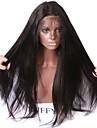 Äkta hår Spetsfront Peruk Rak Yaki 150% Densitet 100 % handbundet Afro-amerikansk peruk Naturlig hårlinje Korta Mellan Lång Dam Äkta