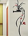 Botanic Floral/Botanic Romantic Perete Postituri 3D Acțibilduri de Perete Autocolante de Perete Decorative,Teracotă Material Pagina de