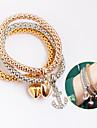Femme Bracelets / Bracelets en cuir - Cuir Amis Boheme, Croise Bracelet Or / Argent Pour Soiree / Quotidien