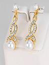 Pentru femei Cercei Picătură Diamant sintetic Imitație de Perle La modă Imitație de Perle Aliaj Geometric Shape Bijuterii Pentru