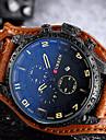 Bărbați Quartz Ceas de Mână Ceas Sport Chineză Calendar Rezistent la Apă Piele Autentică Bandă Creative Casual Unic Watch Creative