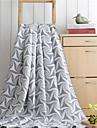 Flanel Geometric Bumbac/Poliester pături