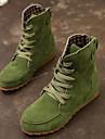 Femme Chaussures Polyurethane / Cuir Hiver Bottes a la Mode / Confort Bottes pour Vert
