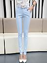 Pentru femei Casual Talie Medie, Micro-elastic Skinny Zvelt Blugi Pantaloni Mată Primăvară Toamnă