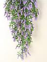 Flori artificiale 1 ramură Pastoral Stil Albastru Deschis Flori Perete