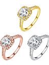 Pentru femei Zirconiu Cubic Band Ring - Zirconiu Modă 5 / 6 / 7 Auriu / Argintiu / Roz auriu Pentru Petrecere / Zilnic