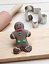 chritsmas gingerman cookie tăietor din oțel inoxidabil biscuiți tort mucegai fondant instrumente de copt