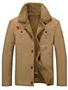 Bărbați Stand Jachetă Casul/Zilnic Simplu,Mată Manșon Lung Toamnă Iarnă-Regular Supradimensionat Bumbac Poliester