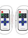 2 st 11-nyckel rf mini trådlös fjärrkontroll med DC-kontakt för enfärgad 3528 5050 led stripljus